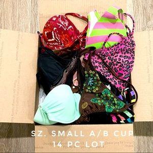 14 Pc Bikini swim lot bundle Sz Small A/B cup